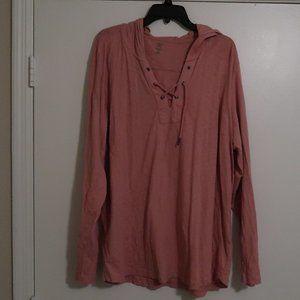 INC heathered pink/salmon hoodie XXL